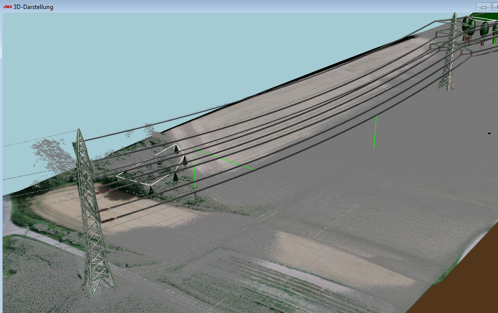 3d view with laserscan data